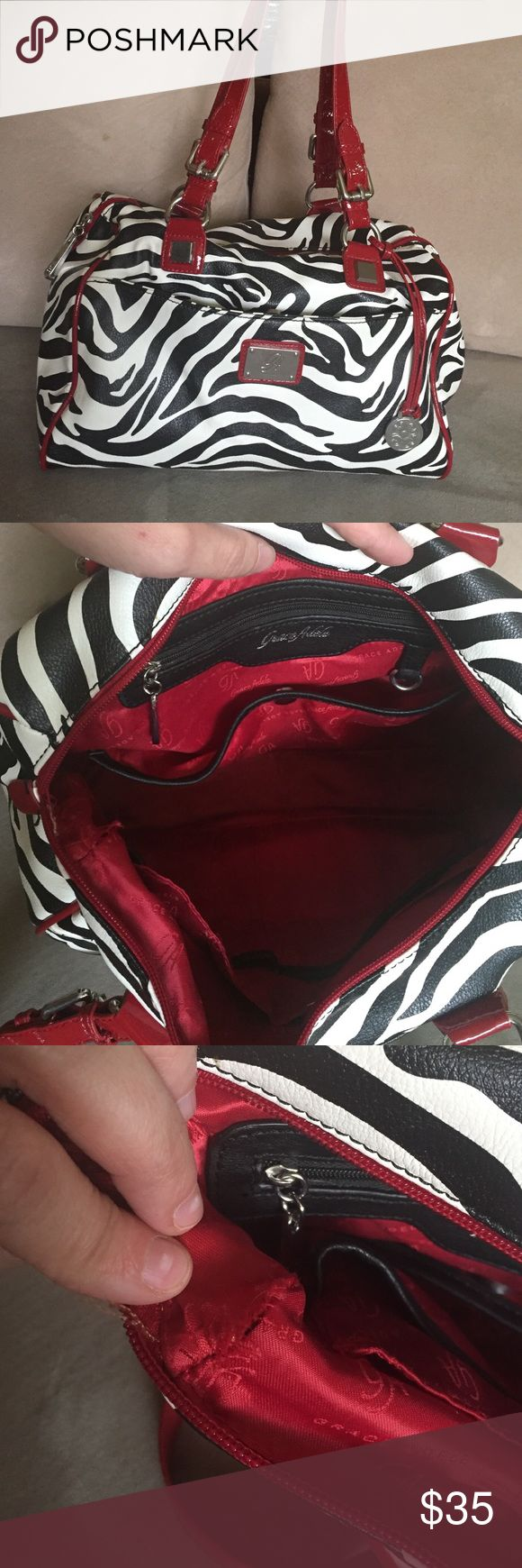 Grace Adele Zebra Stripe Purse Gorgeous and trendy Grace Adele bag. Great condition. One small seam opening on inside corner. Could repair. Smoke free home. Grace Adele Bags Satchels