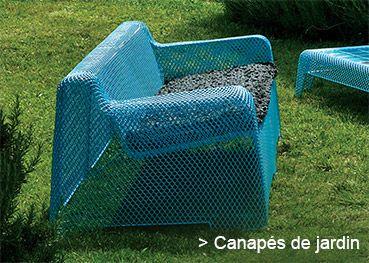 Canapé de jardin bleu #mobilierdejardin #terrasse #sofa #jardin #blue #outdoor #garden #furniture #design