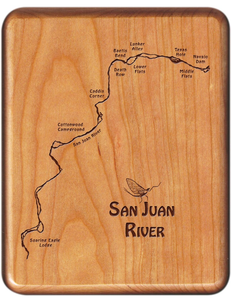 35 best colorado river map fly boxes images on pinterest for Trout fishing new mexico map