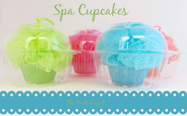 The Partiologist: Spa Party Loofah Cupcake!