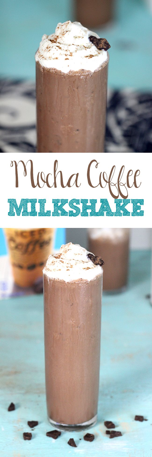 """Drool Time! Can't remember the last time I made a milkshake just for me!! """"Me Time"""" Mocha Coffee Milkshake #IDelightin10 #ad"""