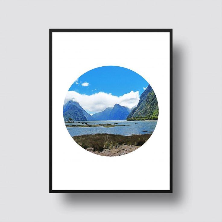 Milford Sound Scenic Print - A5, 8x10, A4, 11x14 or A3 Print