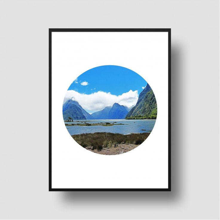 Milford Sound Scenic Print - A5, 8x10, A4, 11x14 or A3 Print