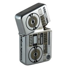 Bomblighter - Ghetto Blaster.  Limited edition. Solid windproof metal lighter. Full lifetime guarantee. Comes boxed and in a tin case. Excellent collectors item. Makes an ideal gift! 6cm Tall x 4cm Wide. For more information please click the link or visit dotcombong.com.