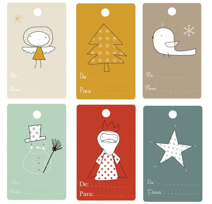 Etiquetas para regalos. Varios modelos | Mi dulce de Melocotón