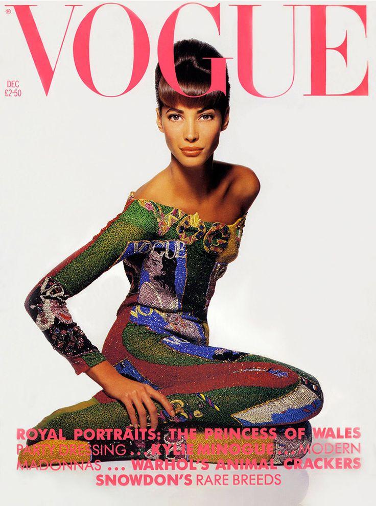 Christy Turlington by Patrick Demarchelier Vogue UK December 1990