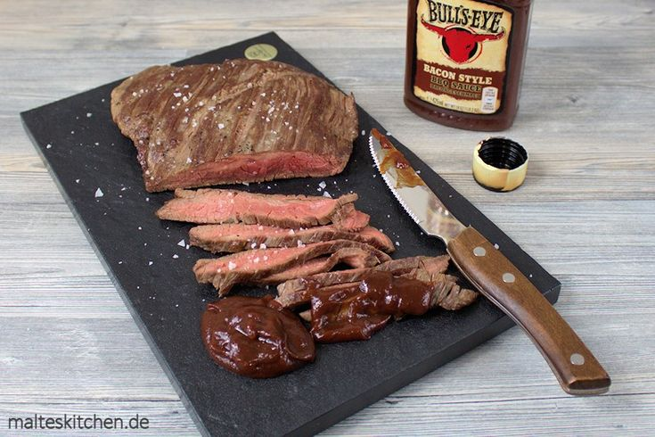 Flankensteak mit der neuen Bull's Eye BBQ Sauce Bacon-Style. Rooar :D #steak #flanksteak #fleisch #meat #rezept http://www.malteskitchen.de