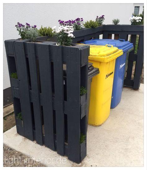 Mülltonne mit Paletten #mulltonne #paletten