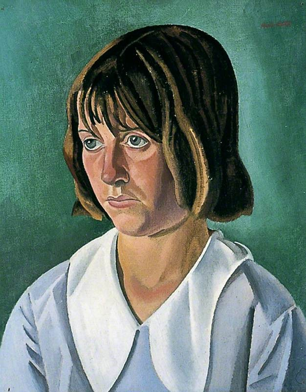 william patrick roberts(1895‑1980), portrait of a young woman, 1920s. oil on canvas, 51 x 40.5 cm. york museums trust, uk  http://www.bbc.co.uk/arts/yourpaintings/paintings/portrait-of-a-young-woman-7983