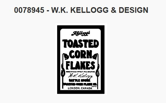 There's nothing quite like the yummy goodness of Kellogg's cereal.  This #trademark for their corn flakes was registered in Canada in 1913.