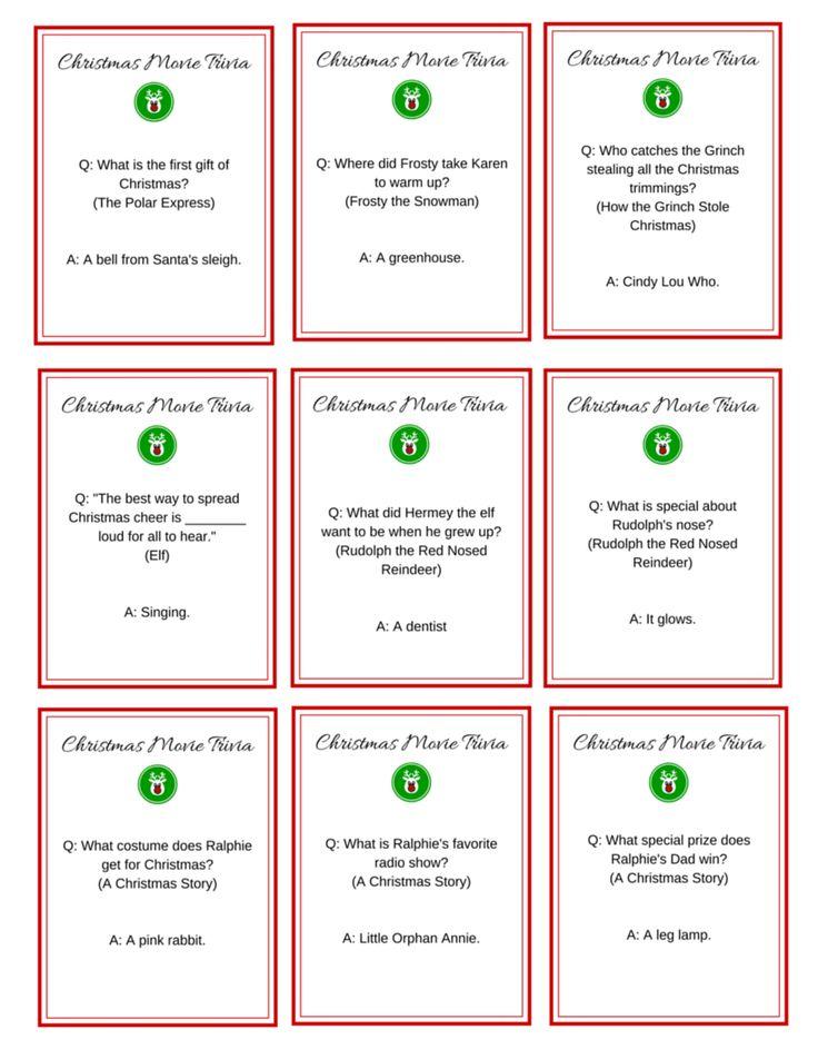 Christmas Movie Night + FREE Printable Movie Trivia Cards! | The Shopping Mama