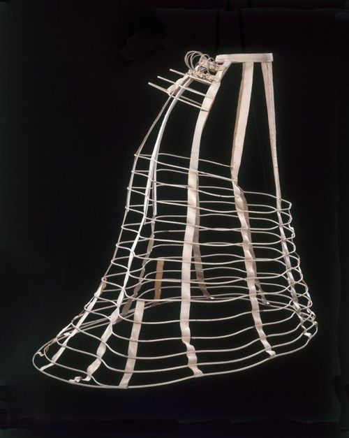 ~This cage helped a woman's skirt stay out. Period is named after these cages~