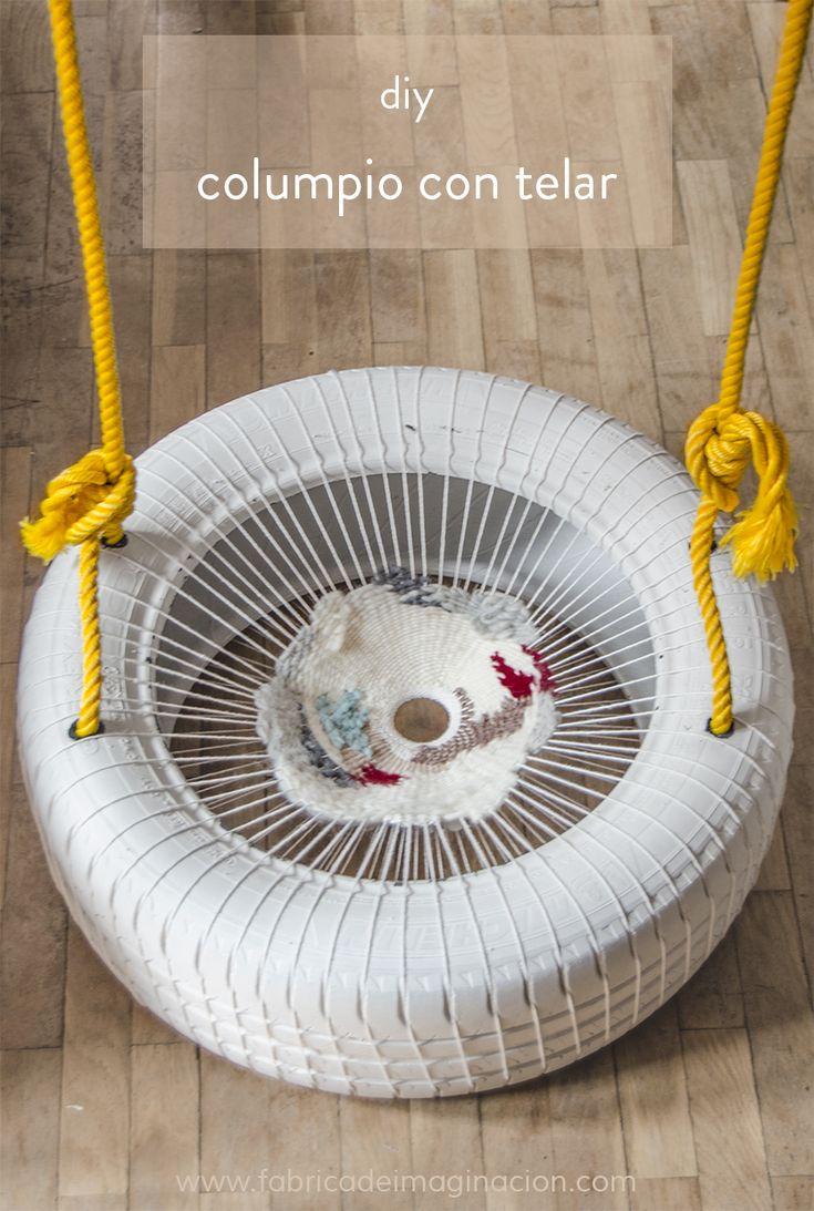 DIY Fábrica de imaginación | DIY Columpio con un neumático y un telar | http://www.fabricadeimaginacion.com