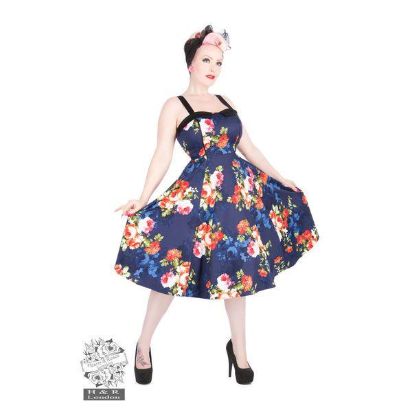 Heart & Roses -Navy Floral Mekko