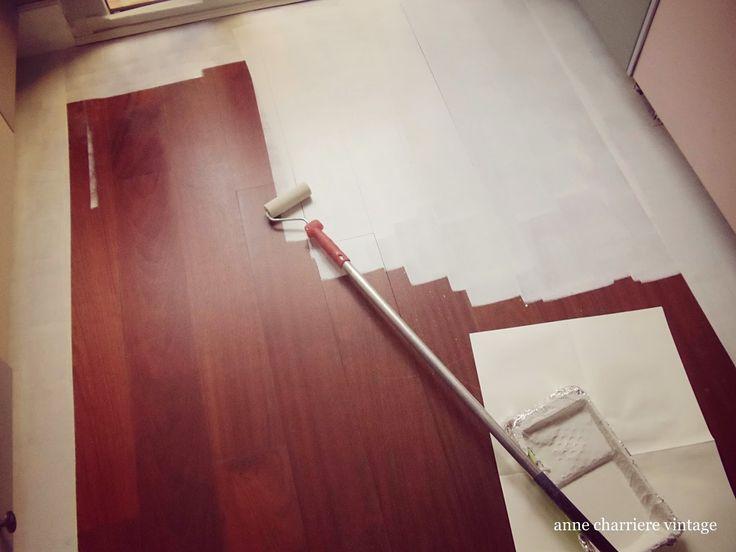 Painting hardwood floor