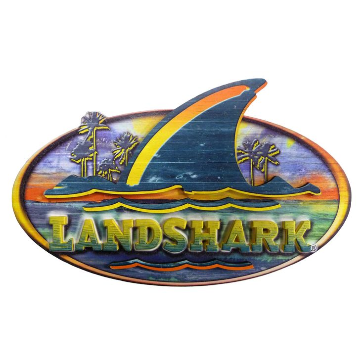 Sharks In Perdido Key Florida: // Landshark Resin Sign