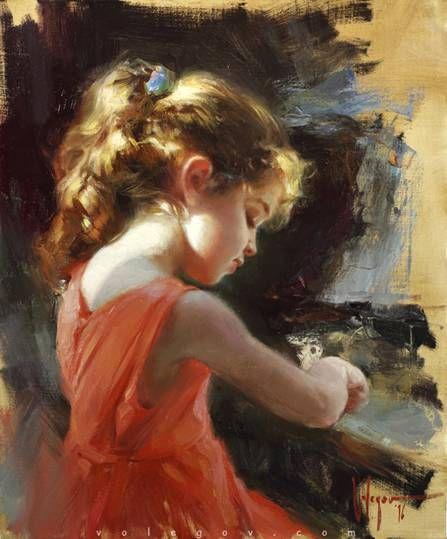 Volegov.com :: PORTRAIT WITH IRISES, painting