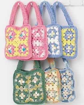 Crochet eight granny squares in your favorite yarn colors to create a cute little granny square purse. This granny square crochet pattern is a great way to use different yarn colors.