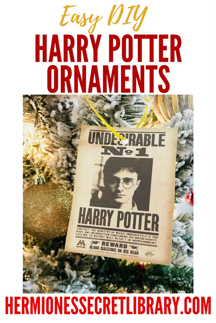 easy diy harry potter ornament, harry potter, christmas, undesirable no 1,