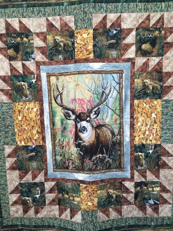 349 best wildlife quilts images on Pinterest | Wildlife quilts ... : hunting themed quilt patterns - Adamdwight.com
