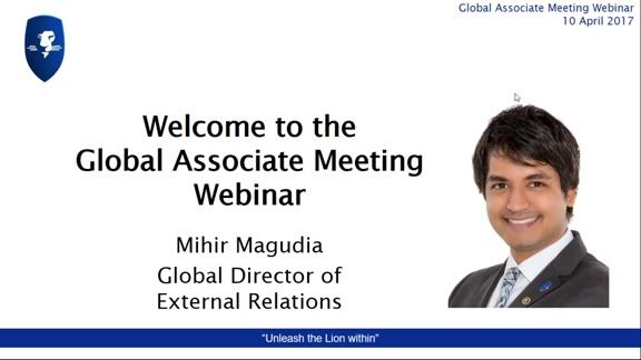 Recording of LEO Global Associate Meeting 10 April 2017 - Mihir Magudia spoke about LEOcoin and LEOcrowd, coverage in the world's news (including new information on the latest LEOcoin wallet), information on Marketing tools and events, incentives, and an update on the LEO Smart 3.0 app. #eLearning #digitalcurrency #crowdfunding #prosperwithLEO