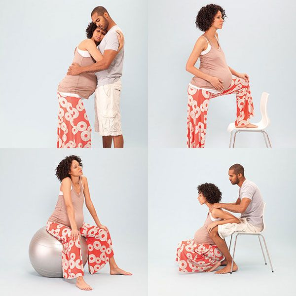 Try these positions to ease your pain and discomfort during contractions.