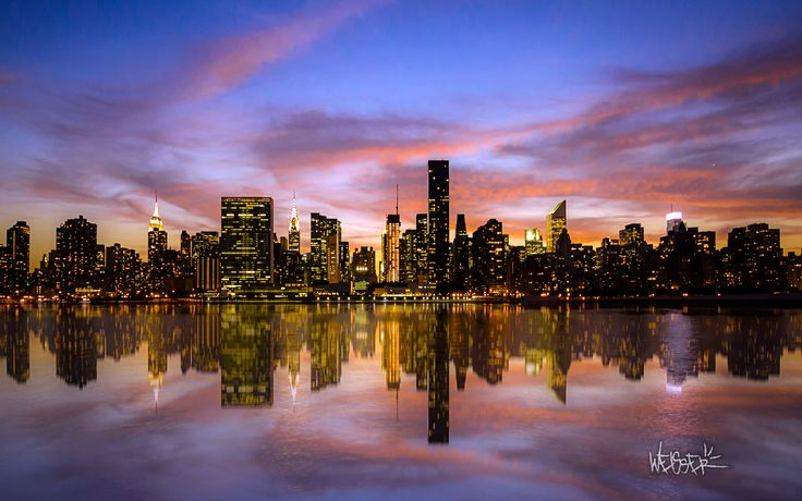 manhattan sunset wide jpg - cool wallpapers download