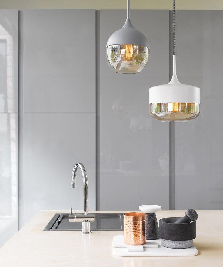 Lunar 1 Light Bowl Pendant In White With
