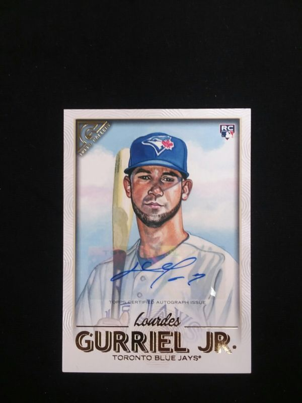 2018 Topps Gallery Lourdes Gurriel Jr Rc Auto 26 Blue Jays