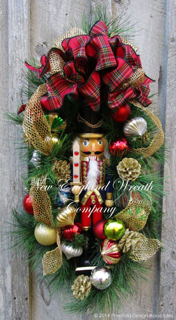 Grand Holiday Nutcracker Swag by NewEnglandWreath