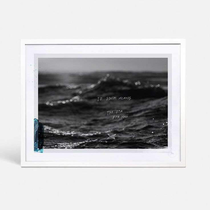 Blacklist Swim Across The Sea Framed Limited Edition Print