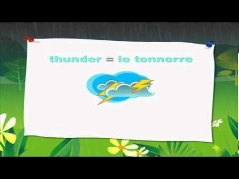 French for Kids Simple Words for Weather - very short video with 4 simple weather terms