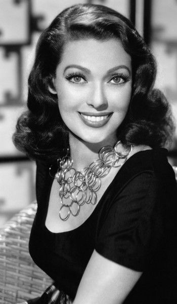 Loretta Young (she reminds me of you, even though your eyes aren't blue)