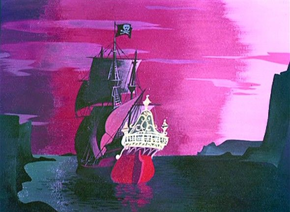 Visual development work by Mary Blair for Peter Pan
