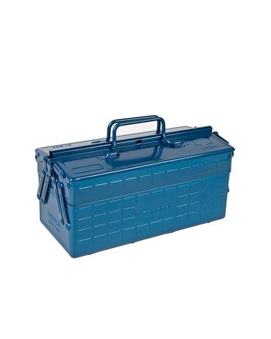 Fresh in from Japan: beautiful blue Trusco 2-Level Cantilever Tool Box. A toolbox worth drooling over is hard to find!