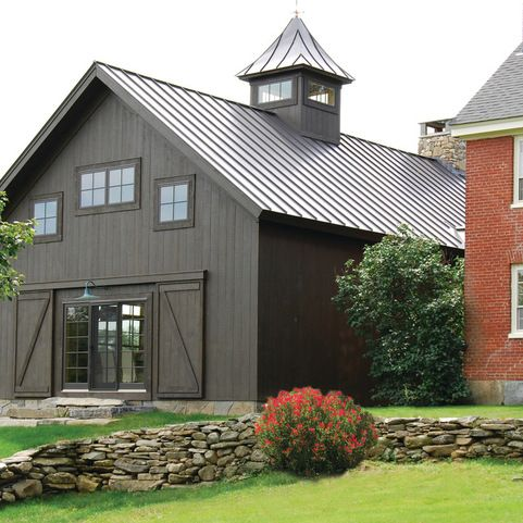 Vintage Timber Frame Barn Addition - farmhouse - Exterior - Burlington - The McKernon Group