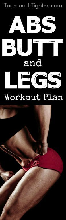 6 at-home workouts to tone and tighten your abs, butt, and legs! From Tone-and-Tighten.com