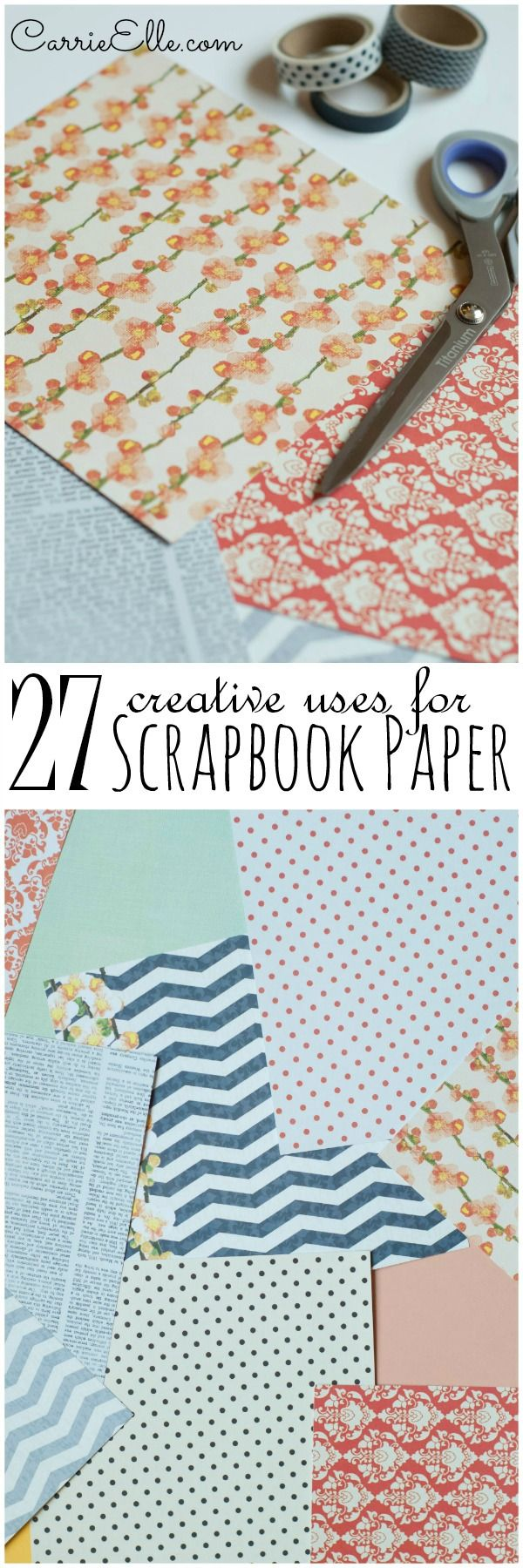 33 creative scrapbook ideas every crafter should know diy projects - 27 Creative Uses For Scrapbook Paper That Don T Involve Scrapbooking I Have Tons Of Scrapbook Paper Laying Around The House I Can T Wait To Try Some Of