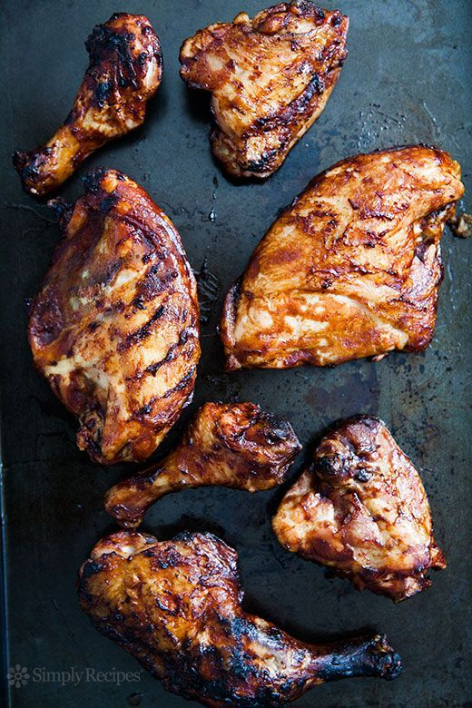 Barbecued Chicken on the Grill Recipe | Simply Recipes