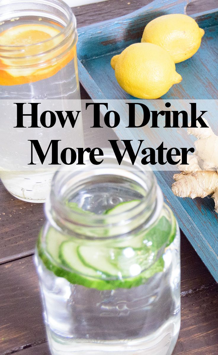 Easy tips on how to drink more water with some awesome recipes as well!