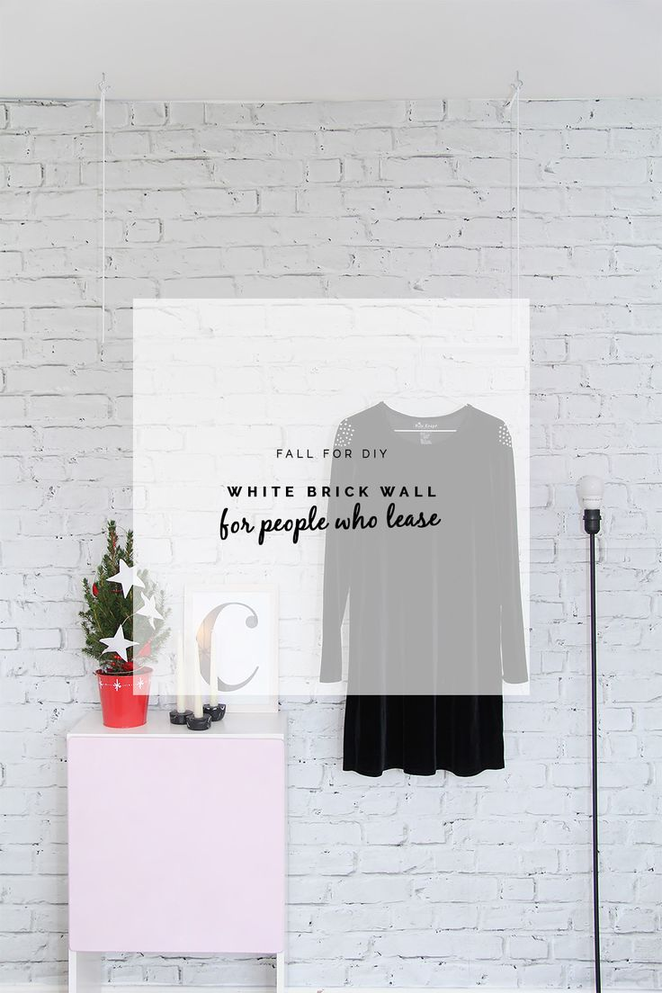 Fall For DIY White Brick Wall for people who lease