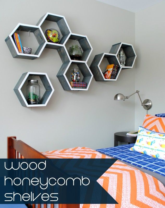Wood Honeycomb Shelves - A Little Craft In Your DayA Little Craft In Your Day