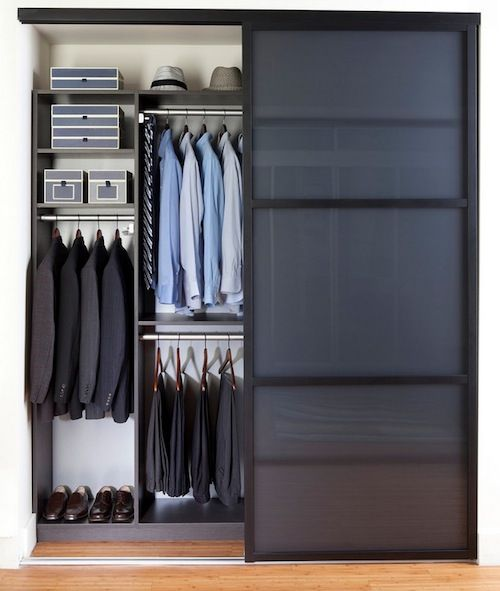 reach in mens closet organization