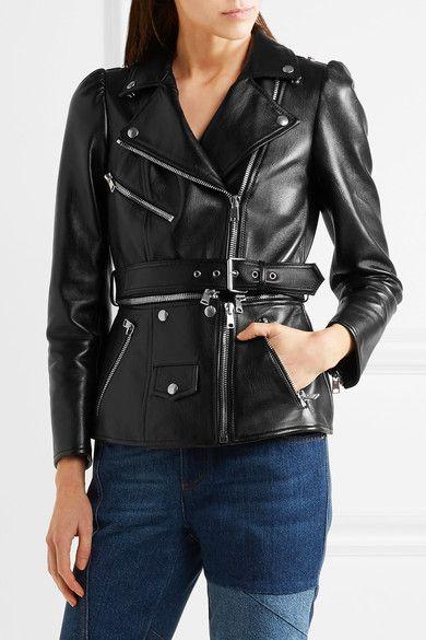 Alexander McQueen - Belted Leather Biker Jacket - Black - IT42