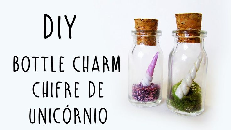 DIY: Bottle Charm Chifre de Unicórnio (Unicorn Horn Bottle Charm Tutorial)