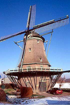 Flour mill De Hoop, Wervershoof, the Netherlands.