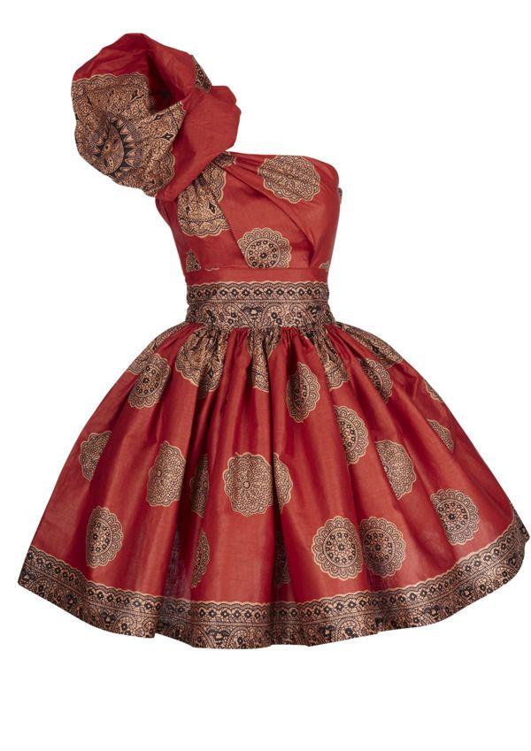 ghanaian dress designs | SIKA BOUTIQUE — Fusion Orange Bubble Dress