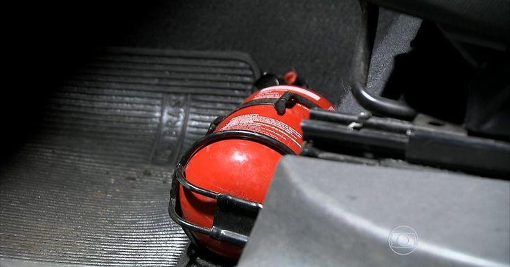 Extintor de incêndio em carro deixará de ser obrigatório
