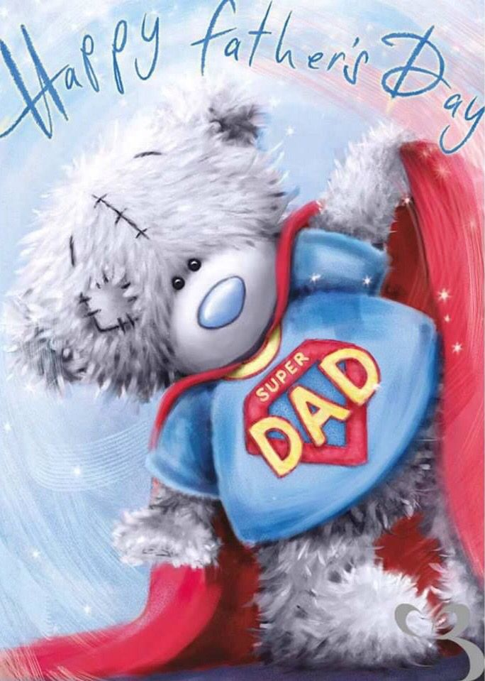 Osito vestido de Superman, feliz día del padre