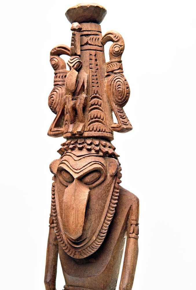 PNG Exceptional Lower SEPIK  AMULET Ancestor Figure Carving - Papua New Guinea